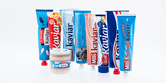 TEST AV KAVIAR: Vi har testet i alt 9 ulike typer kaviar og kaviarmix.