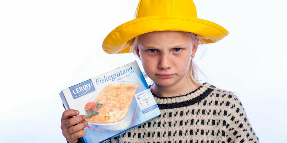 LITE FISK: Lerøy fiskegrateng kunne like godt hett makaronigrateng.
