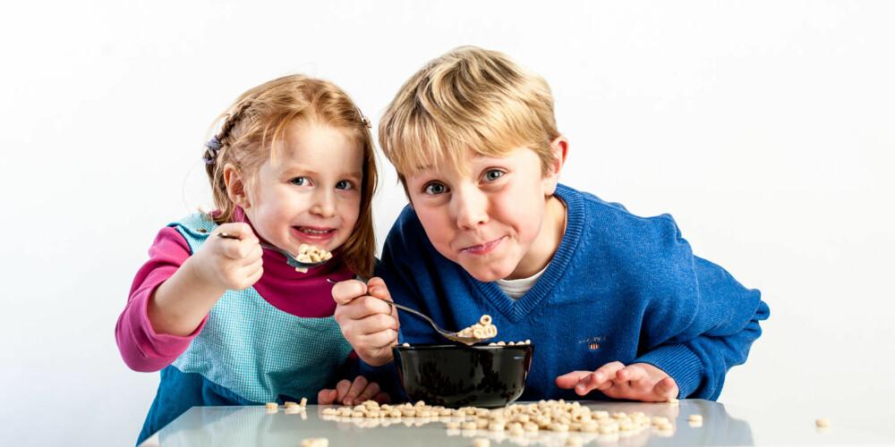 NAMNAM: Cheerios er blant Tilde og Steffens frokost-favoritter.