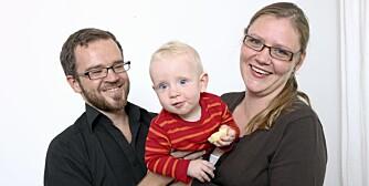 Familien Kvernenes, Oslo, med lille Konrad (11 mnd.) var en av Klikk Foreldres testfamilier.