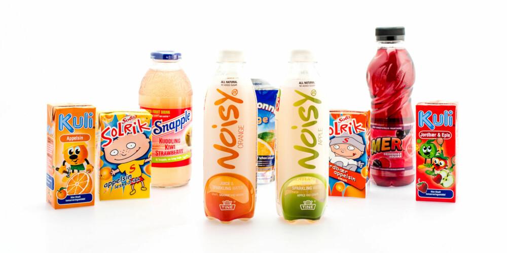 MYE Å VELGE I: Det finnes mange ulike leskedrikkprodukter å velge i, men ikke alle er så veldig sunne.