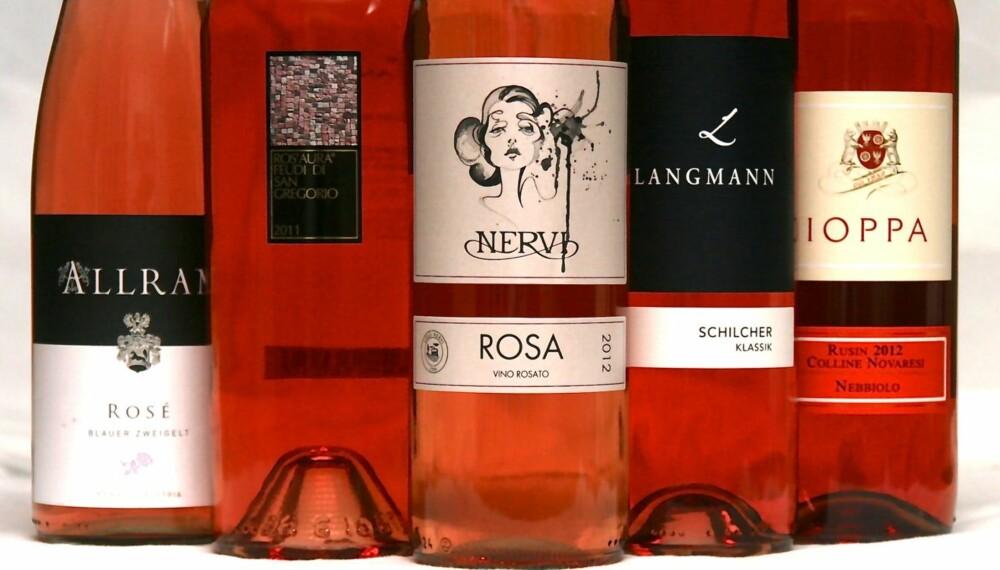 ROSÉVIN: Italia og Østerrike er i teten i vår test av rosévin.