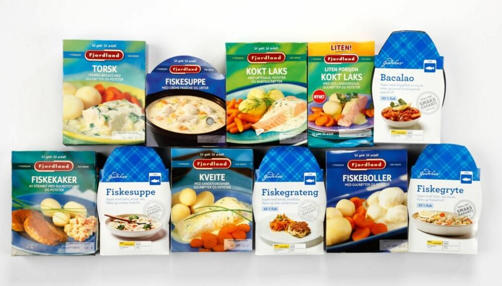 FISKEMIDDAG: DinKost har testet 11 fiskemiddager mot hverandre etter næringsverdi.