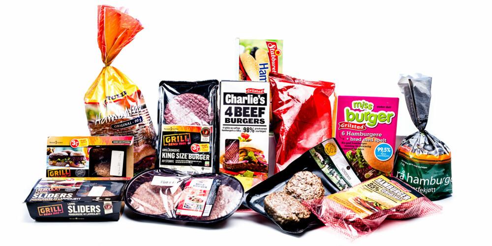 TEST AV HAMBURGERE: Vi testet 13 ulike typer hamburgere, ferske og fryste.