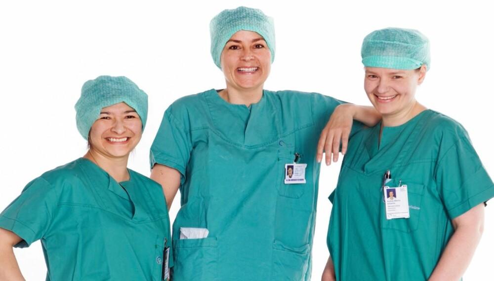 BLE NYE: Operasjonssykepleierne Tomiko, Ann-Kristin og Audrey fikk hjelp til å finne ny stil med Alt for damene.