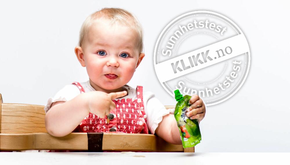 DENNE VAR GOD!: Aurora Braaten Schumann (1) synes denne fruktmosen fra Nestlé smakte godt.