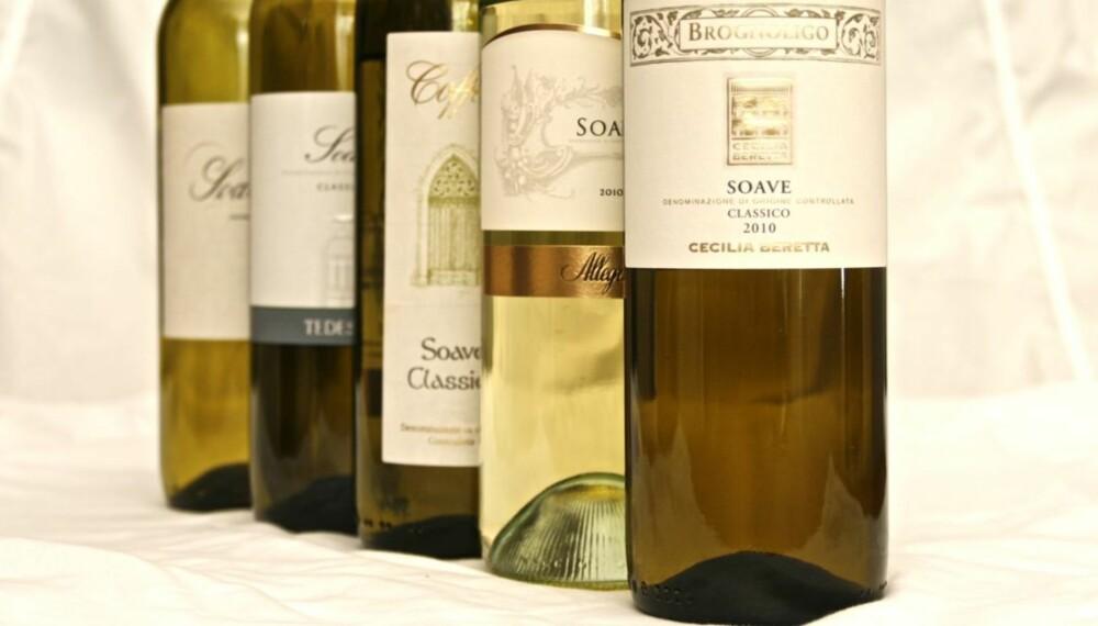 TIL SJØMAT: Soave er gode allround-viner til det meste av fisk og skalldyr.