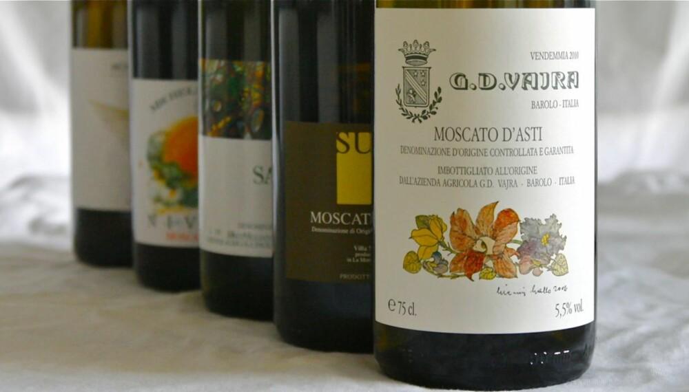 FRUKTIGE: Moscato d¿Asti er søte, lette og veldig fruktige, musserende viner fra Piemonte i Nord-Italia.