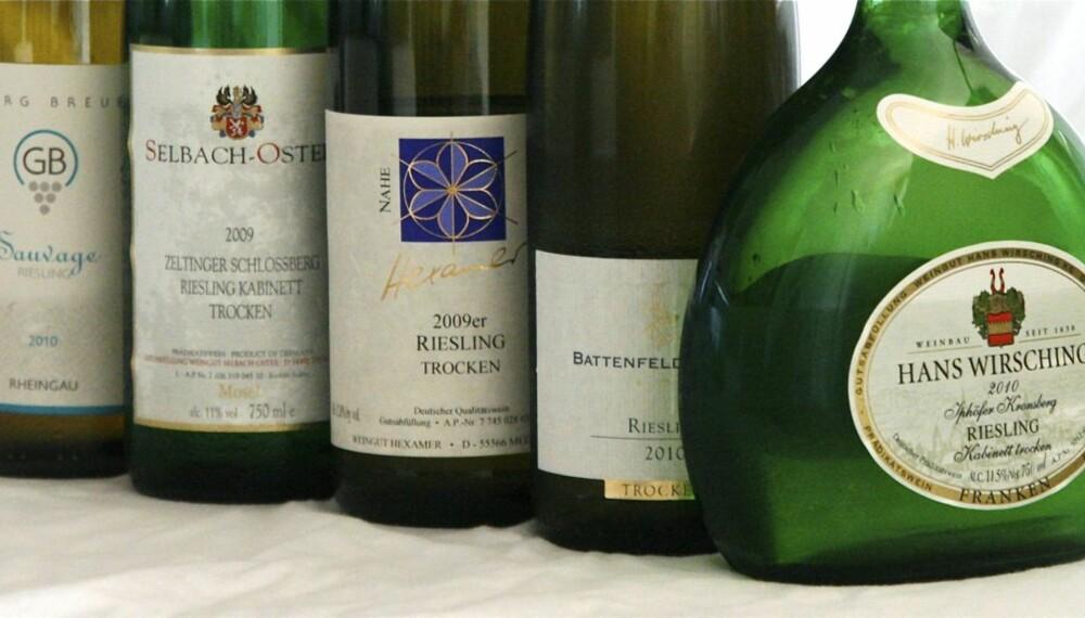 TEST AV RIESLING: Vinene byr på høy kvalitet i forhold til prisen.