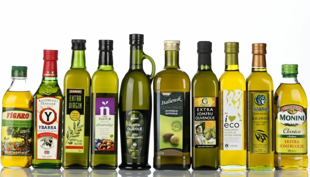 Hele 17 produkter er testet i vår store test av extra virgin olivenolje fra butikk.
