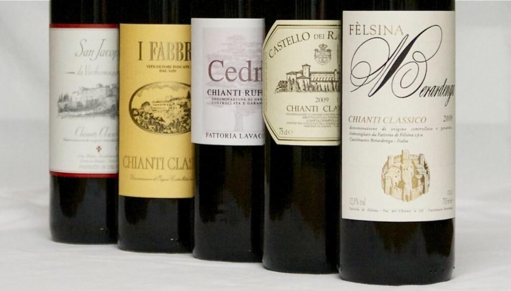 ERKEITALIENSK: Chianti kommer fra hjertet av Toscana.