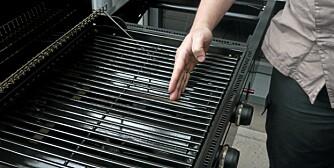EFFEKTIV GRILLFLATE: Vi har målt hvor stor del av grillflaten som bli varm.
