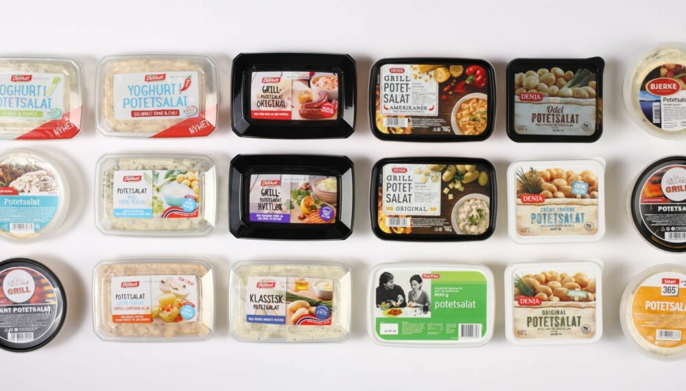 POTETSALAT: Klikk Helse har bedt ernæringsfysiolog Iren Ellingsen om å vurdere næringsinnholdet i 18 typer potetsalat.