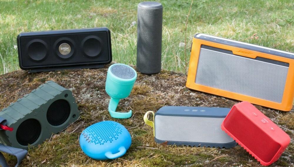 TRÅDLØSE: VI har testet åtte trådløse høyttalere som egner seg godt for bruk undendørs.