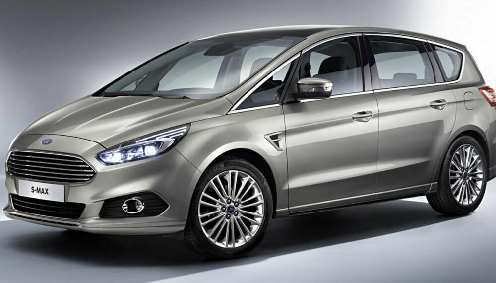 S-MAX: Dette er nye Ford S-Max. Trolig kan den fås med firehjulsdrift. FOTO: Produsent