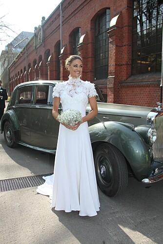 DRØMMEKJOLE: Jenny Skavlan giftet seg i en brudekjole hun opprinnelig hadde funnet på Fretex.