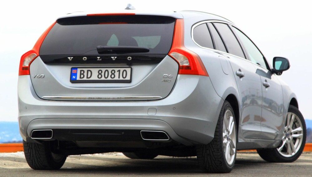 GJERRIGST: V60 D6 AWD plugin hybrid er den gjerrigste bilen med firehjulsdrift som vi har testet.