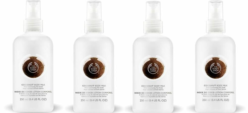 SPRAY PÅ: Body Shop Coconut Body Milk, kr 149.