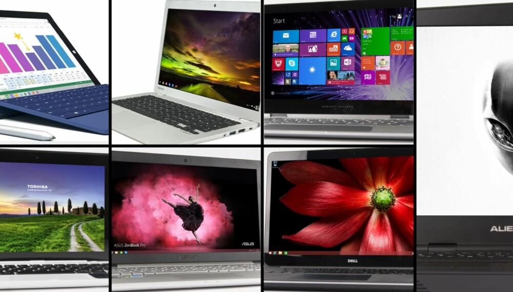 BÆRBAR-PC: Kjøpe en PC som passer dine behov. Her er ni bærbare PC-er vi har testet den siste tiden.