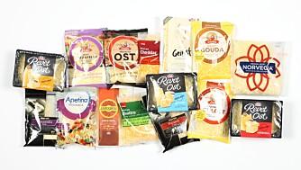 TEST AV REVET OST: Vi har testet næringsinnholdet i 15 pakker ulike revet ost. FOTO: Petter Berg