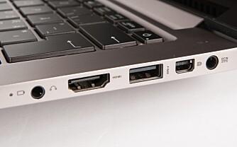 HURRA: Asus både HDMI og Mini-Displayport i normal størrelse, da slipper man overganger.