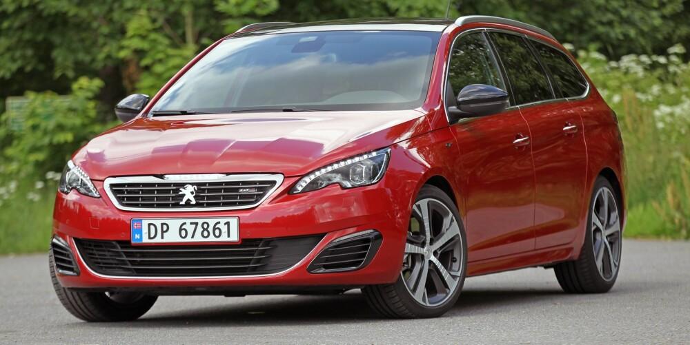 TOPPSCORE x 4: Fire Peugeot 308-modeller ble belønnet med toppscore i våre 2015-tester. Det vitner om god bredde og et produkt som virkelig holder mål.