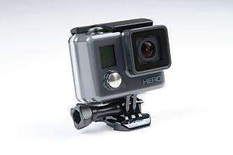 BEGRENSET: GoPro Hero har verken wifi eller egen skjerm. En liten infoskjerm frempå kameraet lar deg likevel endre innstillinger i kameraet.