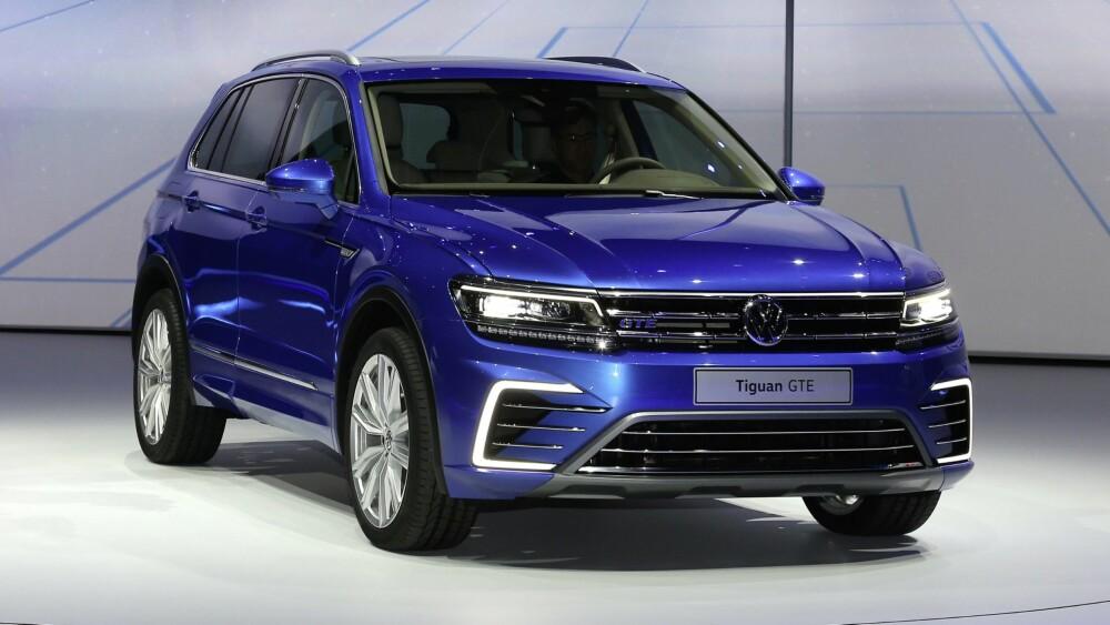SUV: Senere kommer de rimeligste versjonene med mindre motor og forhjulsdrift. En ladbar versjon kommer også. FOTO: VW