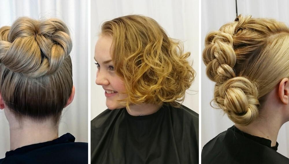 17. MAI-FRISYRER: Det er gøy å gjøre noe annerledes med håret på nasjonaldagen. Under kan du se fremgangsmåten til disse tre.