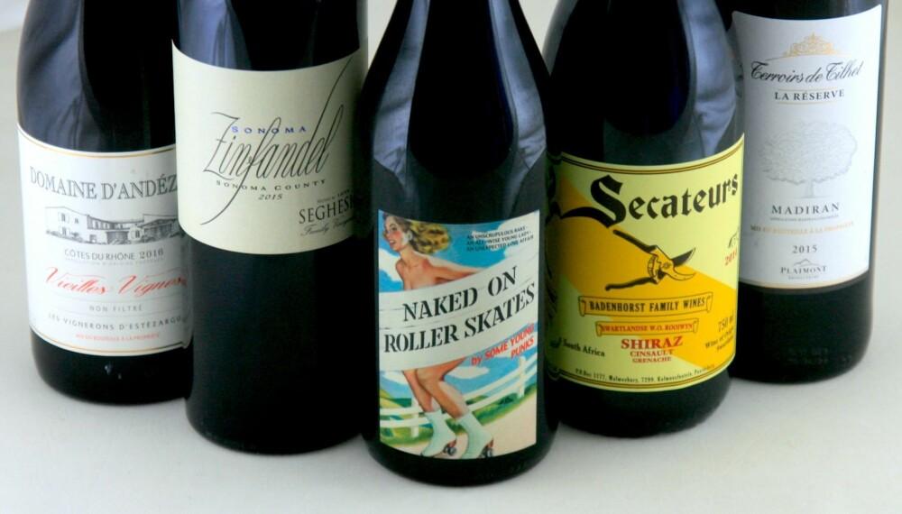 KRAFTPAKKER: Grillmat har kraftige smaker, og da må vinene være kraftige også.