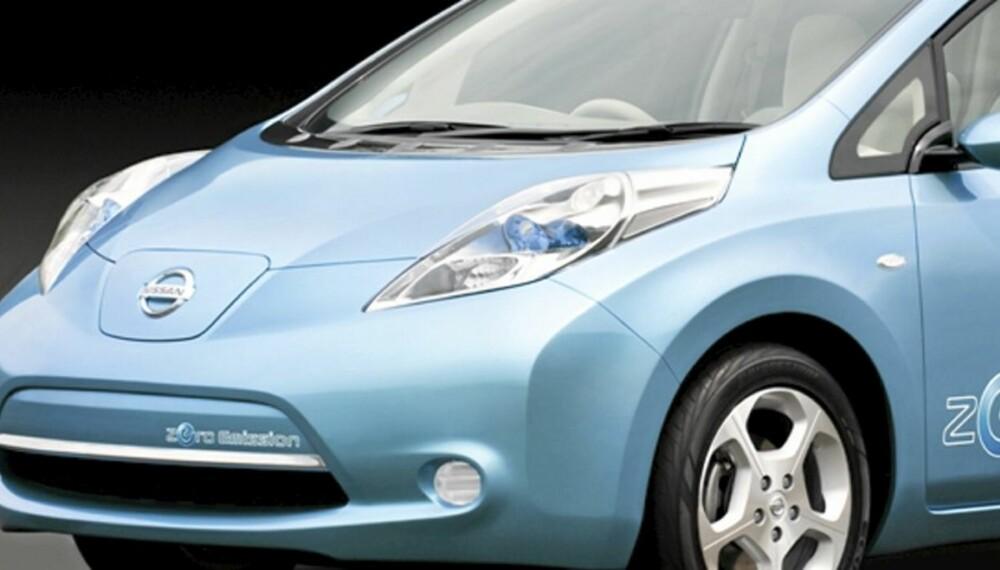 TRÅKKER LØYPA: Dette er den første familieelbilen som lanseres av en stor produsent. Nissan Leaf vil få en horde etterfølgere.