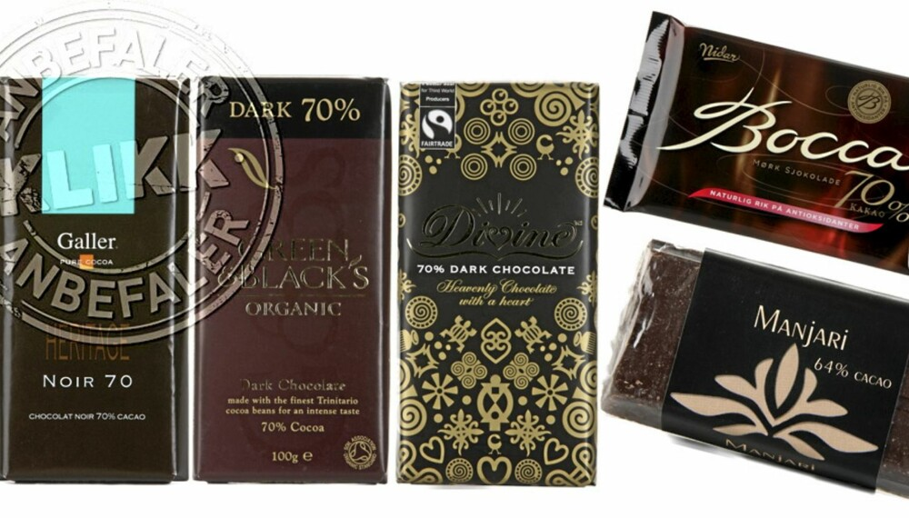 31 SJOKOLADER: Vi har testet 31 mørke sjokolader og funnet de beste!