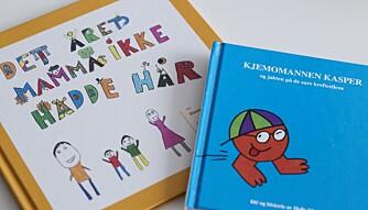 LESESTUND: Bøkene fra sykehuset har vært gode å ha for at Linnea og Cornelia skal forstå mammas sykdom. FOTO: Siri Rolness.