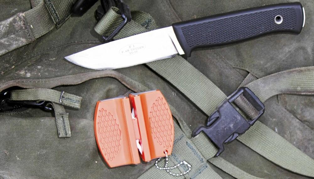 TESTET: Villmarksliv og Klikk.no tester knivslipere til å ha med på tur.