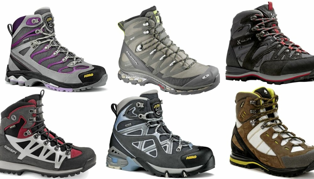 TESTET: 10 par fjellsko, som er solide sko med ankelstøtte til turer i kupert terreng.