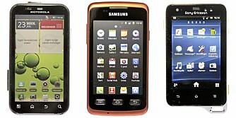 TESTET: Klikk.no og Villmarksliv har testet vanntette smarttelefoner.