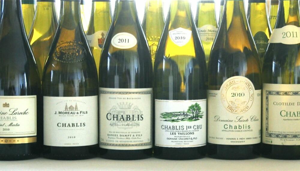 MINERALSKE: Chablis-vinene har et mineralsk preg, som ofte går i retning sjø eller varme steiner.