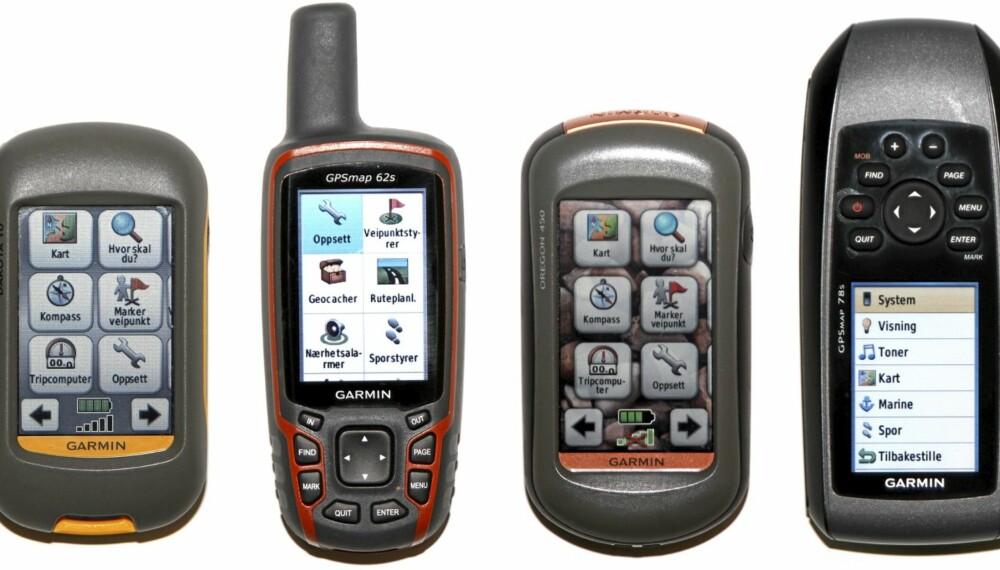 TEST: Villmarksliv har testet håndholdte GPS - alle fra Garmin.