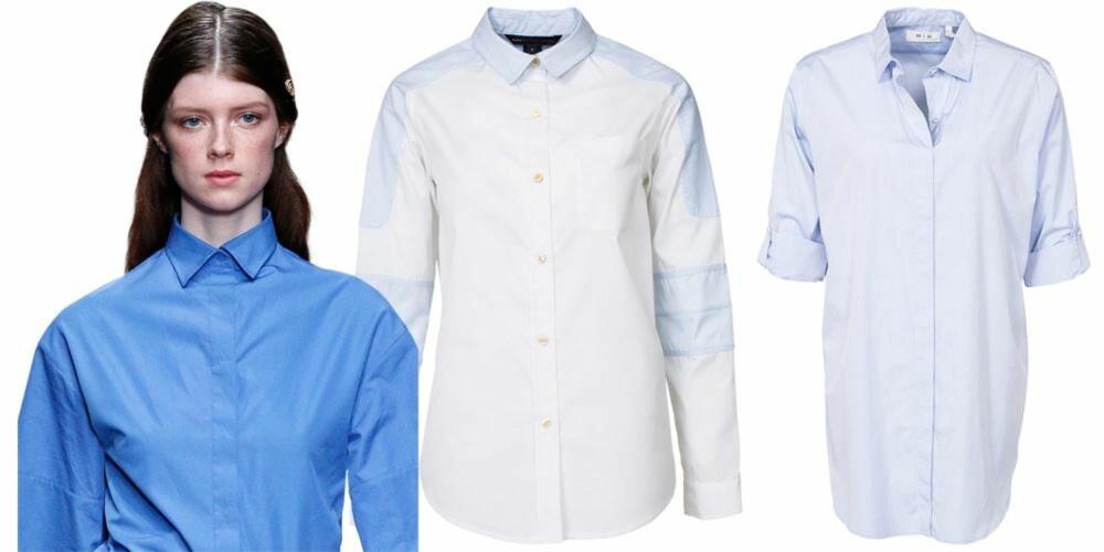 MYKT OG ELEGANT: Fra venstre: Skjorte fra Marc By Marc Jacobs, kr 2795. Skjorte fra MIH Jeans, kr 1795.