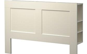 NYTTIG: Ikea har en praktisk hodegavl med rom for oppbevaring. Den har fått navnet Brimnes.