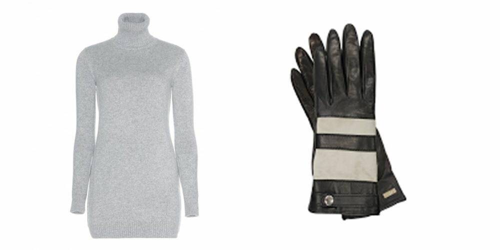BIKER CHIC: Den grå genseren og hanskene fra Scandicandy kan bli dine i løpet av dagen.