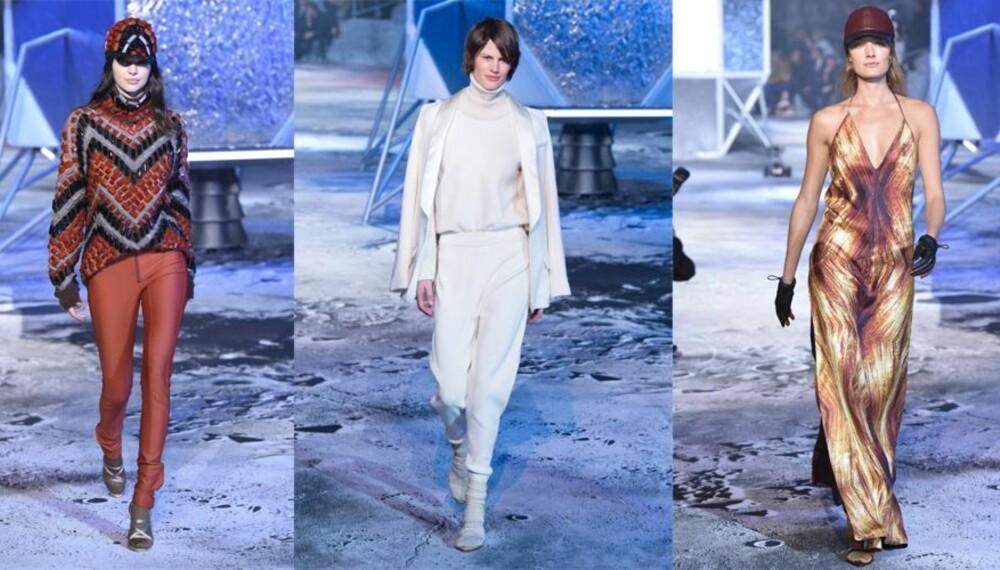 LIVESHOW FRA PARIS: Kjendiser sitter på rekke og rad for å få med seg H&M sine visninger.