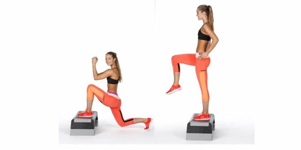 UTFALL BAKOVER: Fokuser på å stå stødig og jobbe med foten du står på. Bruk step-up