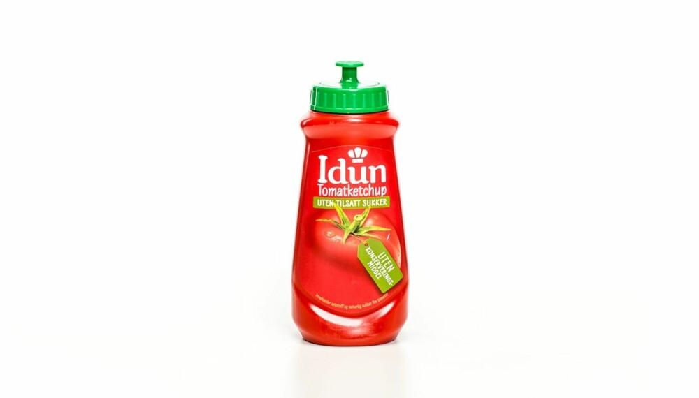 TEST AV KETSJUP: Idun tomatketchup uten tilsatt sukker.