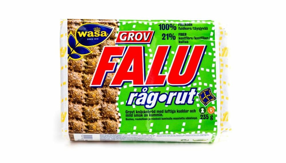 TEST AV KNEKKEBRØD: Wasa Falu råg-rut knekkebrød.