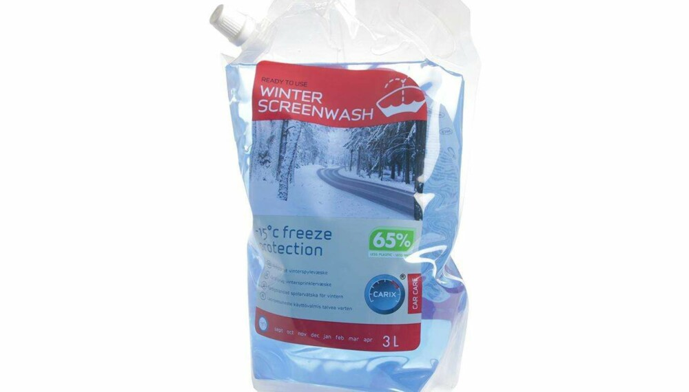 Test av vindusspylervæske: Winter Screenwash