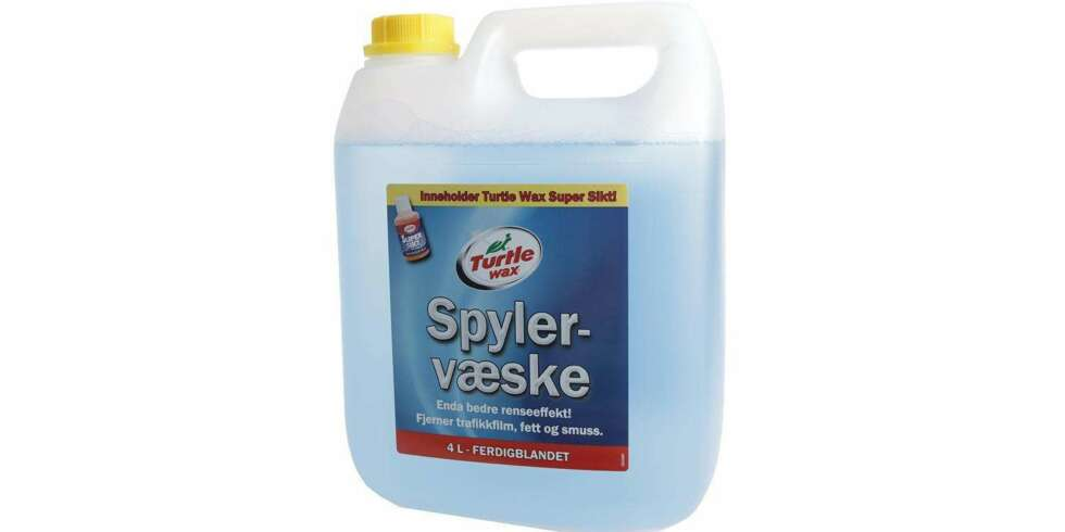 Test av spylervæske: Turtle wax