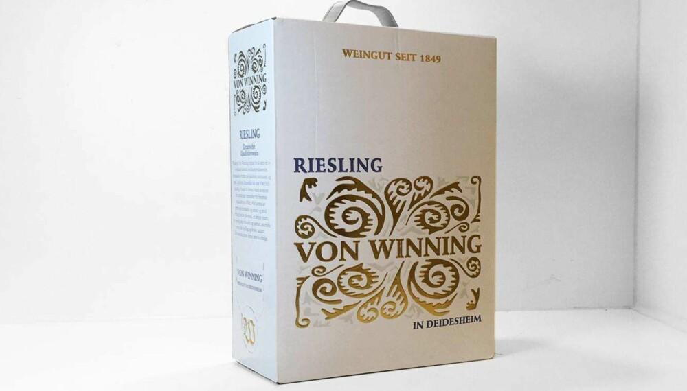 Test av hvit pappvin: Von Winning Riesling