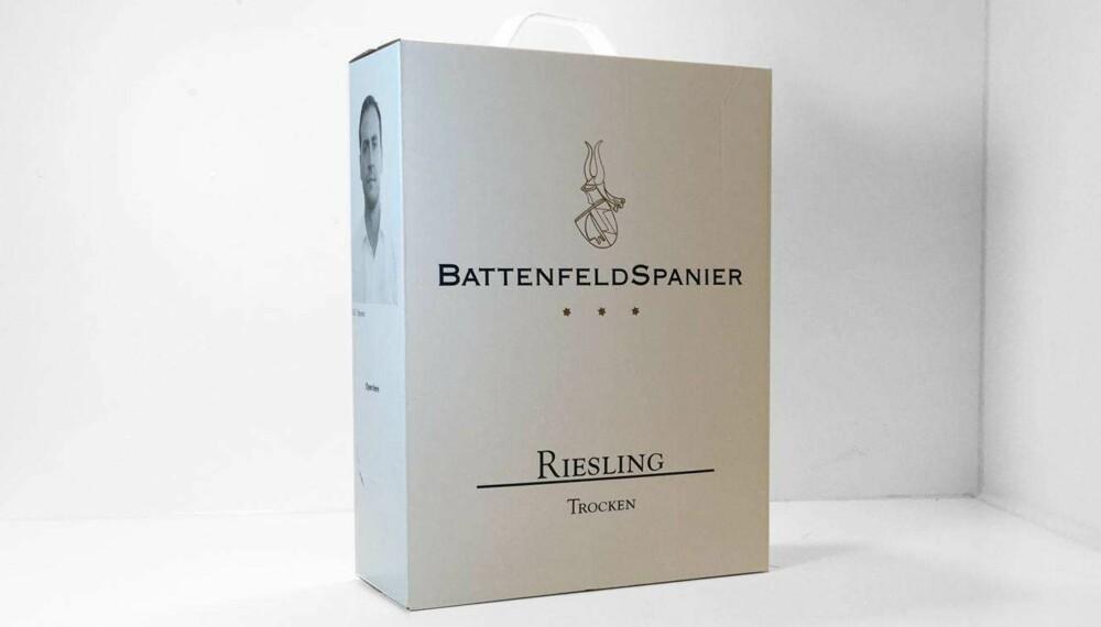 Test av hvit pappvin: BattenfeldSpanier Riesling Trocken 2014