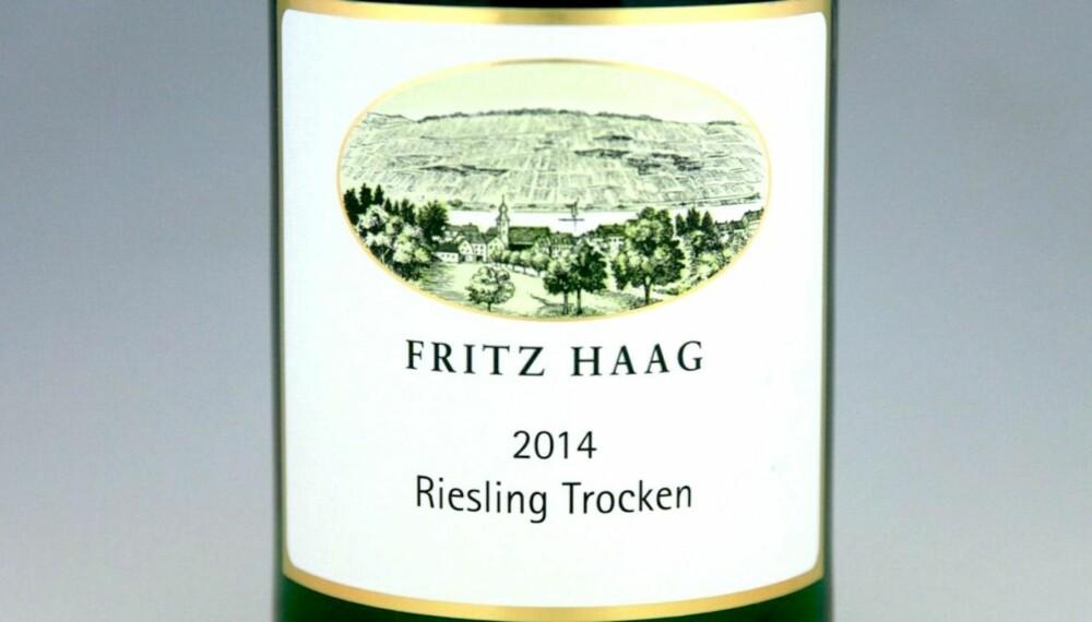 GOD RIESLING TIL TORSK: Fritz Haag Riesling Trocken 2014. FOTO: Arnie Stalheim